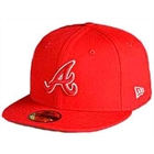 Bon� New Era Atlanta Braves Outline Vermelho - New Era